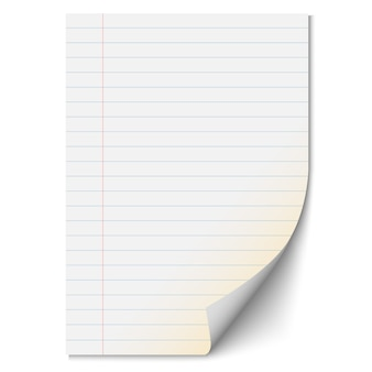 Blank paper sheet with lines