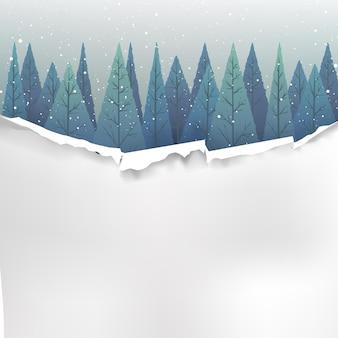 크리스마스 이벤트 배경으로 빈 종이 템플릿