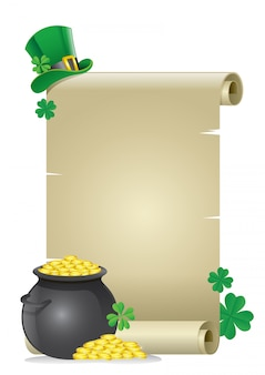 Blank paper for text of saint patrick's day concept
