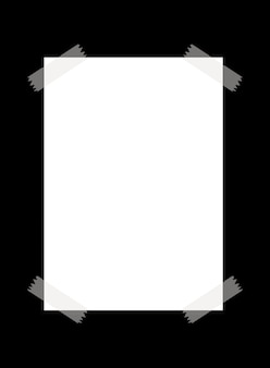 A blank paper with transparent tape