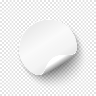 Blank papper round banner. price tag template. promotion badge. vector illustration for your projects.