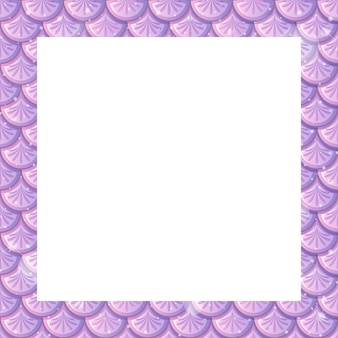 Blank pastel purple fish scales frame template