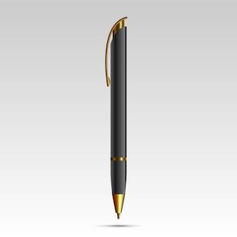 흰색 배경에 고립 된 빈 펜