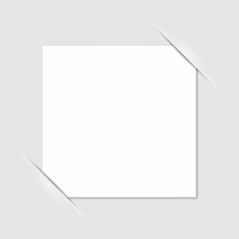 Blank photo frame corners. vector.