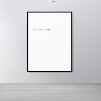 Пустая рамка для фото или рамка в пространстве пространства.