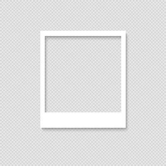 Blank photo frame. template for design