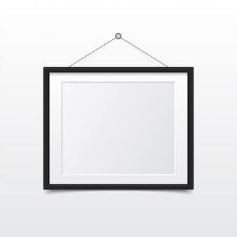 Blank photo frame on the wall. design for modern interior