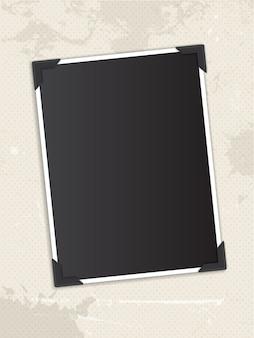 ビンテージ水玉の背景の空白の写真