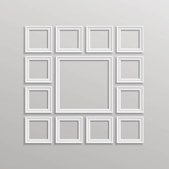 Blank picture frame template composition