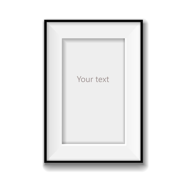 Blank picture frame vector isolated. vector illustration