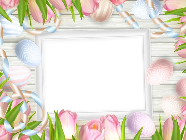 Blank picture frame on white.