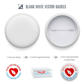 Blank pin-back button template