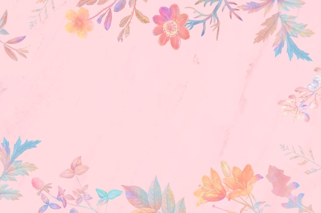 빈 핑크 꽃 배경
