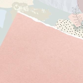 空白のピンクの破れた便箋