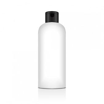 シャンプー、ローション、シャワージェル、ボディミルク、バスフォーム用の空のペットボトル。現実的なテンプレート