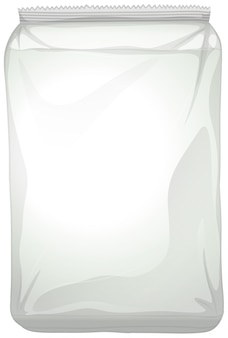 A blank plastic package on white background