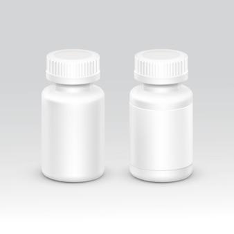 分離された薬のキャップ付き空のプラスチック包装ボトル