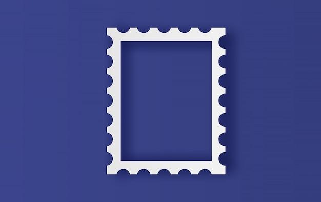 Blank postage stamps frame