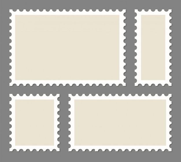 空白の切手フレームセット