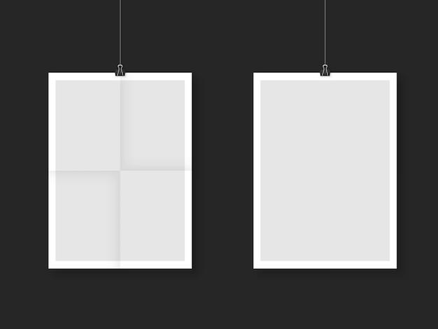 Blank poster frame