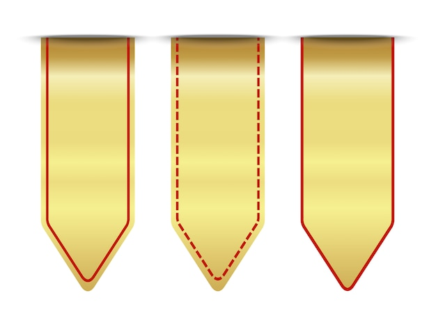 Blank premium ribbon gold and red set