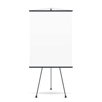 Blank presentation screen. white board for business, empty paper,