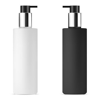 Blank pump dispenser bottle. isolated care container