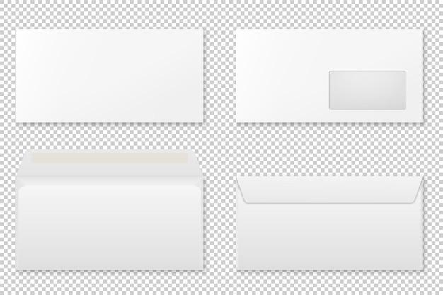 Blank realistic envelope set.  .
