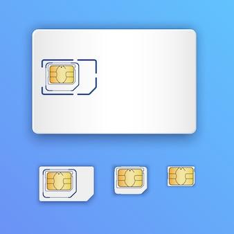 Blank realistic sim card