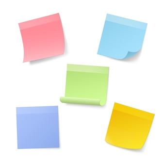 Blank realistic sticky note papers.