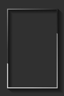 Blank rectangle black abstract frame