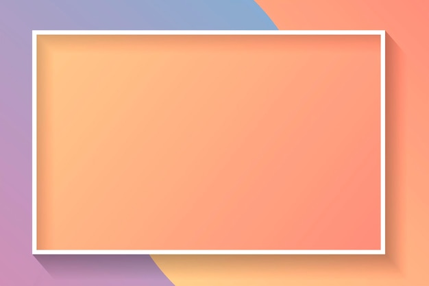 Blank rectangle colorful abstract frame