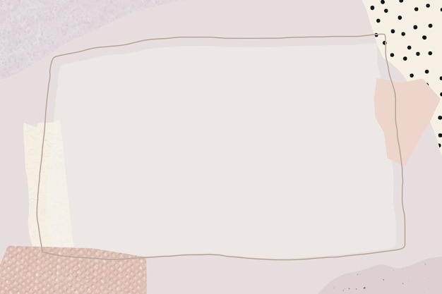 Blank rectangle purple frame design