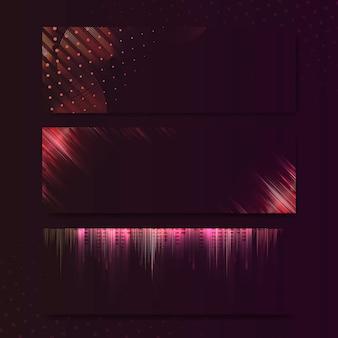 Пустой красный прямоугольник баннер вывеска вектор