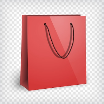 空白の赤いショッピングバッグ