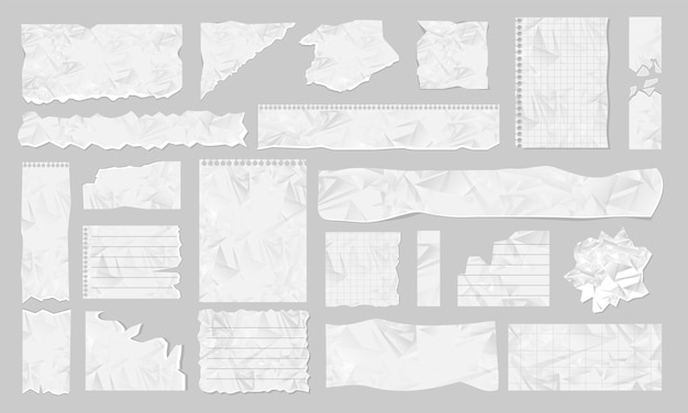Blank ripped paper illustration