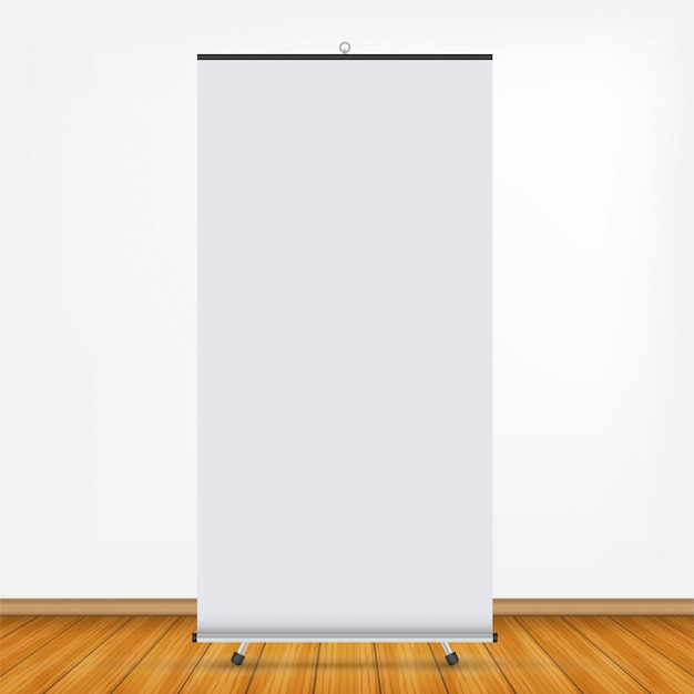 Blank roll-up banner display. roll up banner stand