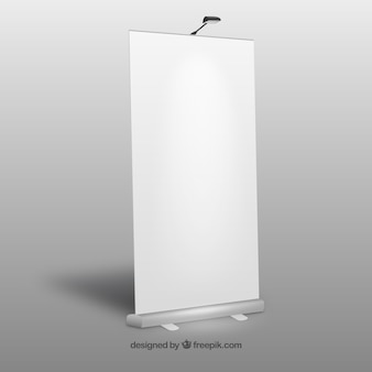 Blank roll up banner