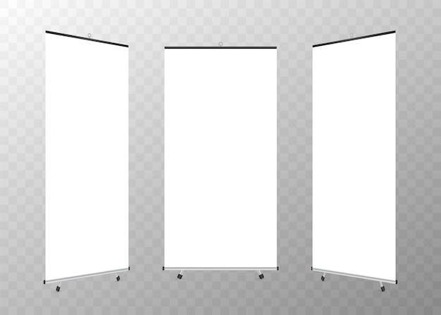 Blank roll-up xbanner display.