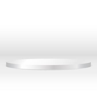 卓越した高級品広告ディスプレイ用の空白の丸い台座の白い円形の表彰台