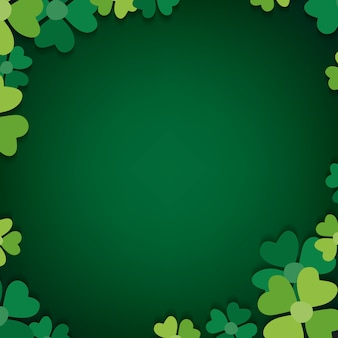Blank shamrock patterned frame vector
