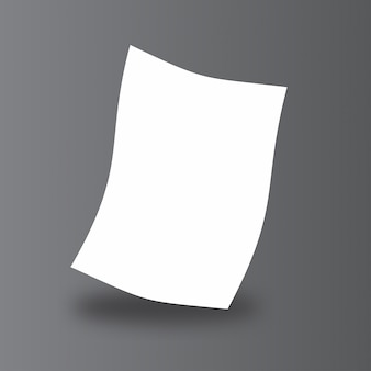 Carta semplice mock up