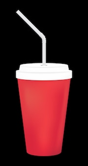 A blank soft drink cup