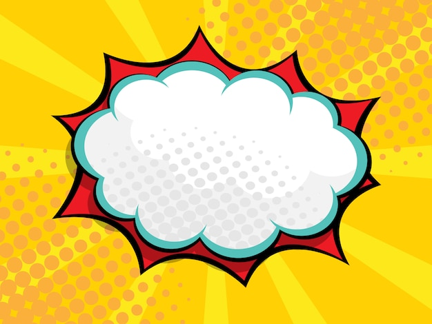 Blank speech bubble comic book, pop art