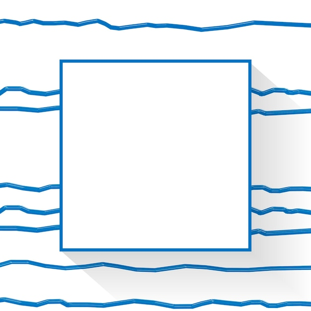 Blank square abstract frame