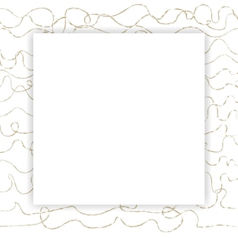 Cornice astratta quadrata vuota