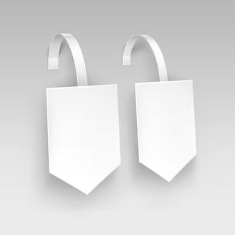 Пустая квадратная стрелка на бумаге из пластика, цена на рекламу