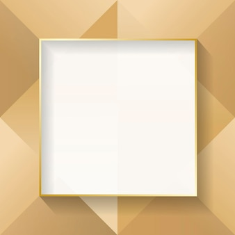 Blank square beige abstract frame