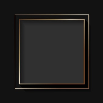 Blank square black abstract frame