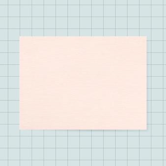 空白の正方形のグリッドメモ帳グラフィック